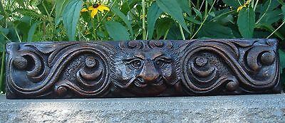 19C English Salvage Set 3 Carved Gothic Oak Griffin/Gargoyle Drawer-Front Panels 8
