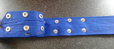 Sikh Nihang Singh Khalsa Adjustable Belt Kamarkasa with Loop Blue Waist Belt 3 • EUR 9,84