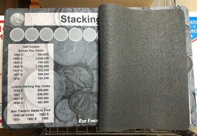 """11"""" X 17"""" Silver Stack Coin Roll Hunting Mat - Rubber Backed and Safe for Coins! 2"""