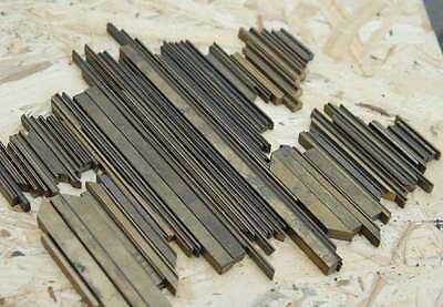 Prägelinien für Buchbinder Messing Rahmen Prägen Messinglinien Buchbinden rar