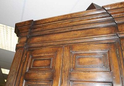 XL Tudor Jacobean Corner Cabinet Oak Farmhouse 5