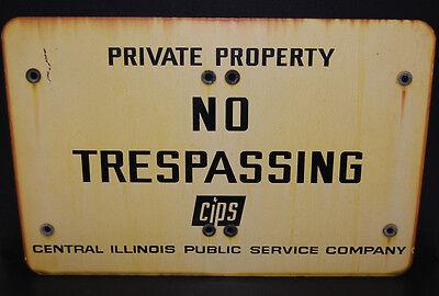 LARGE Industrial Antique Porcelain Enameled No Trespassing Private Property Sign 2