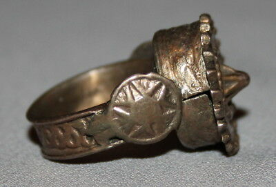 Antique Greek Bronze Folk  Hand Made Ring