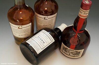 4 x leere Schauflaschen - Dekoflaschen zur Schaufensterdekoration um 1960-65 !? 3