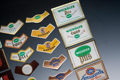 30 x verschiedene Etiketten WICKÜLER BIER + ANDERE um 1955-1968 3