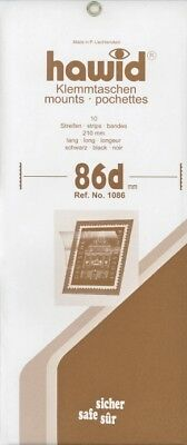 Hawid Stamp Mounts Strips - All x 210mm wide - Black or Clear -  SAVE 20% 10