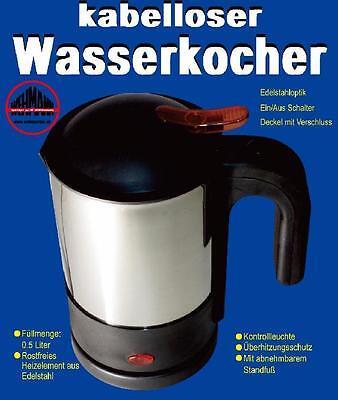 Wasserkocher 12 Volt f/ür Kfz Edelstahl kabellos Babykostw/ärmer Babykosterw/ärmer 12V