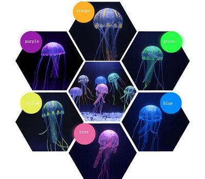 Decor Jellyfish Aquarium Decoration Artificial Glowing Effect Fish Tank Ornament 7
