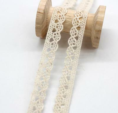 10 Yard Multicolor Crochet Lace Trim Wedding Bridal Ribbon Sewing DIY crafts 6