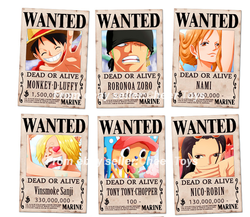 One Piece Luffy 15 Billion Berry Anime Pirates Wanted