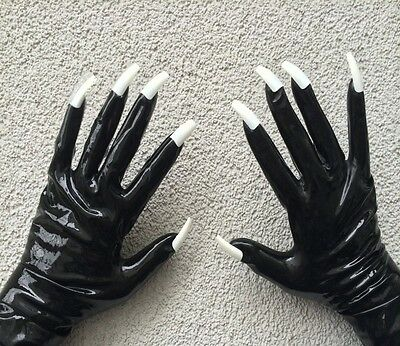 Rubber Latex Rubber Gloves  with & without claws selection black red Top Brand