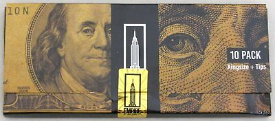 Empire Rolling Papers 5 WALLETS of $100 Dollar Bill Paper Plus Tips (50 PAPERS) 3