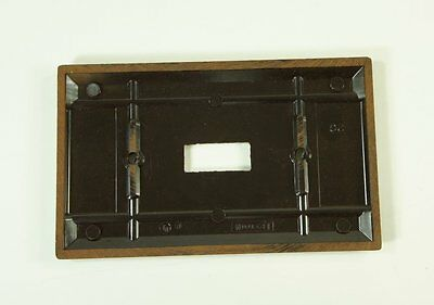 Vintage Leviton Brown Bakelite Smooth Single Switch Plate NOS New 2