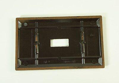 Vintage Leviton Brown Bakelite Smooth Single Switch Plate NOS New 2