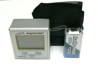 iGaging Angle Cube Digital Protractor Gauge Magnetic Angle & Level Sensor Bevel 2