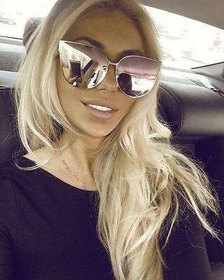 """BARBIE"" Pink Princess Metal Cat Eye Oversized Mirror Lens Women Sunglasses ASTR"