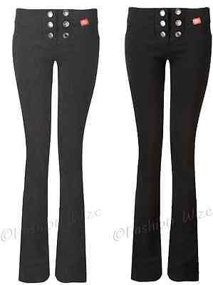 Girls Black Grey Navy School Trousers Sizes 4-16 Miss Sexies Miss Chief Bootcut 7