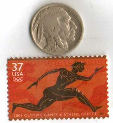 #-2)-*GREECE-1896+1936-*German Olympic stamps+SILVER coin(.900%)+*us-1936-Nickel 2