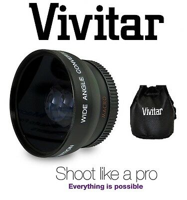 HD4 Optics Vivitar Wide Angle Lens With Macro For Sony SLT-A55V SLT-A55 A55 3