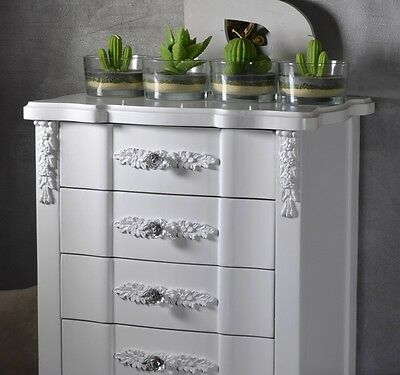 Chest Of Drawers Cabinet Chiffonier Bedside Table Antique French Style White 5