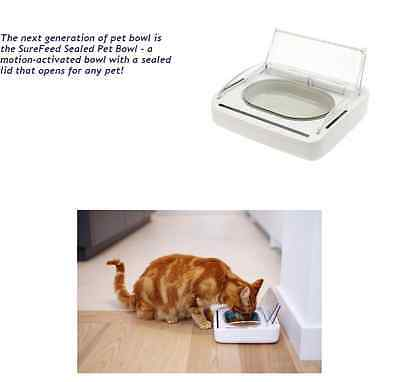 New Surefeed Sealed Bowl Motion Activated Pet Feeder - Keeps Food Fresher Longer