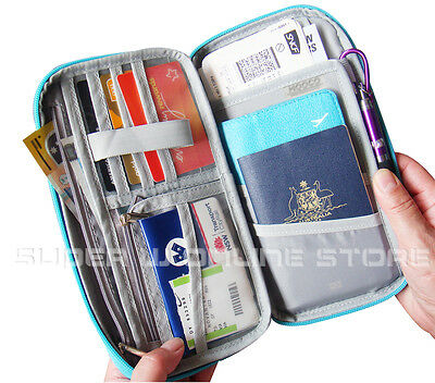 RFID Travel Wallet Passport Card Holder Pouch Organiser iPhone XS Zip Case Tag 3