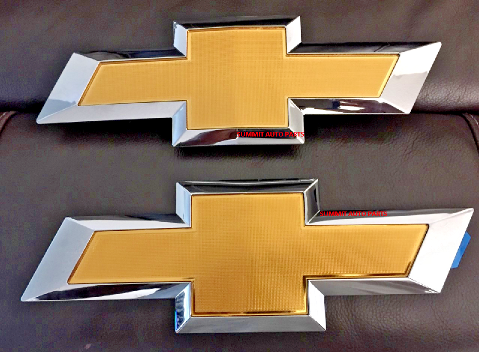 GOLD - Free Shipping! BRAND NEW 2016-2018 Silverado Front grille Emblem