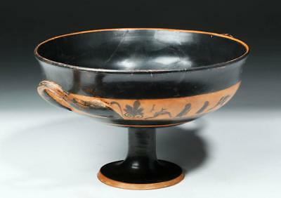 Greek Attic Black-Figure Stemmed Kylix - Nude Athletes Lot 37A