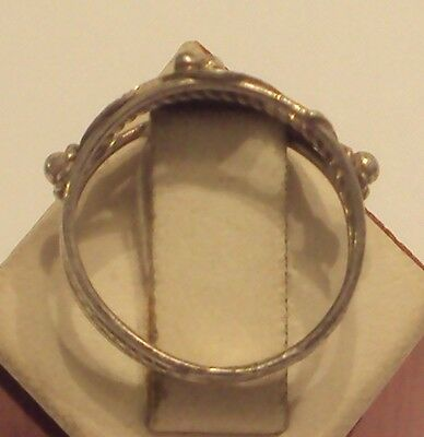 Excellent Early 20Th Century Silver Ring With Open-Work // 887 5