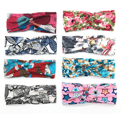 Women Girl Soft Turban Twist Headband Head Wrap Twisted Knotted Knot Hair Band 9