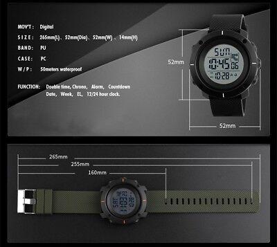 Fashion Men's LED Date Waterproof Digital Quartz Military Army Sport Wrist Watch 9