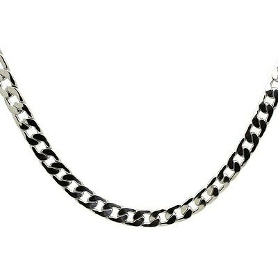 "Beautiful, Silver  2 mm Curb Chain Necklace & gift bag. 30"" long. 6"