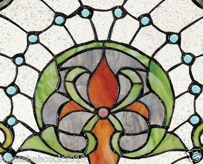 Belle Epoch Estate Manor Iris  Stained Glass Window 2
