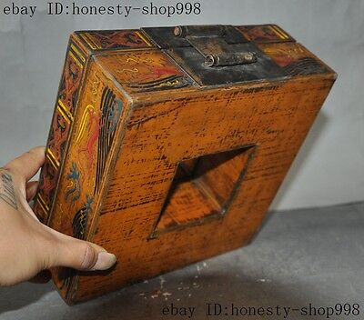 Old China Bronze Lacquerware Carved Auspicious Sika deer Jewelry Case Box Boxes 12