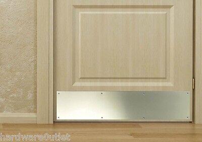 1 Of 2 Polished Brass Door Kick Plate 17 Sizes Drilled U0026 CSK  Guillotine  Cut Beautiful
