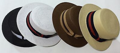 New Men's Bruno Capelo Hat Straw Boater Gatsby barbershop skimmer Fashion Colors 8