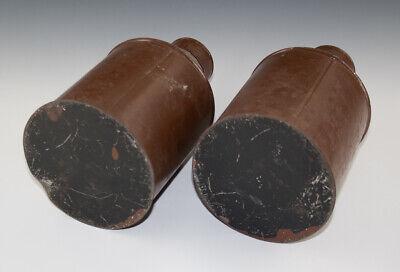 2 x Gefäße aus Blech RADIX EBULI CONC. + FOL. BUCCO wohl um 1920 3