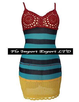 Vestito Donna Mini Copricostume - Woman Crochet Mini Dress Cover up 110164 4
