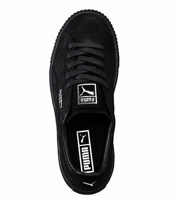 8436f62c07d818 2 of 6 Women s Shoe PUMA Basket Platform Reset Suede Sneaker 363313-04 Puma  Black  New