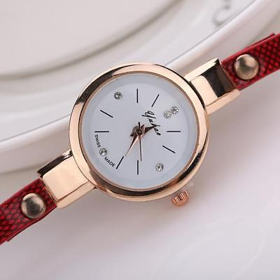 Fashion Womens Ladies Watch Stainless Steel Leather Bracelet Wrist Watches 7