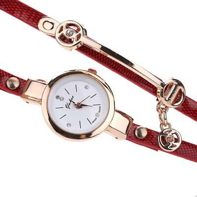 Fashion Womens Ladies Watch Stainless Steel Leather Bracelet Wrist Watches 4