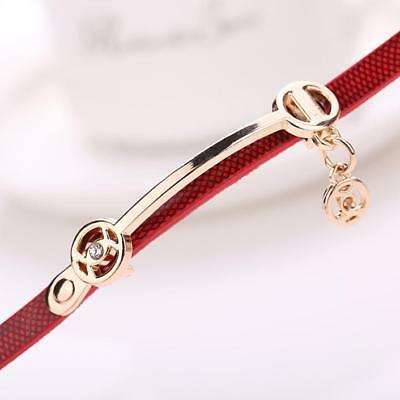 Fashion Womens Ladies Watch Stainless Steel Leather Bracelet Wrist Watches 9
