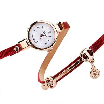 Fashion Womens Ladies Watch Stainless Steel Leather Bracelet Wrist Watches 10