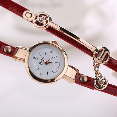 Fashion Womens Ladies Watch Stainless Steel Leather Bracelet Wrist Watches 5
