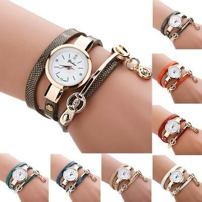 Fashion Womens Ladies Watch Stainless Steel Leather Bracelet Wrist Watches 2