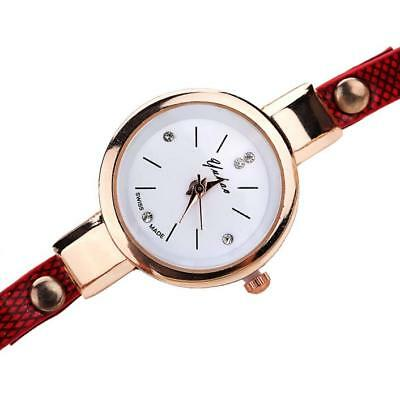 Fashion Womens Ladies Watch Stainless Steel Leather Bracelet Wrist Watches 6