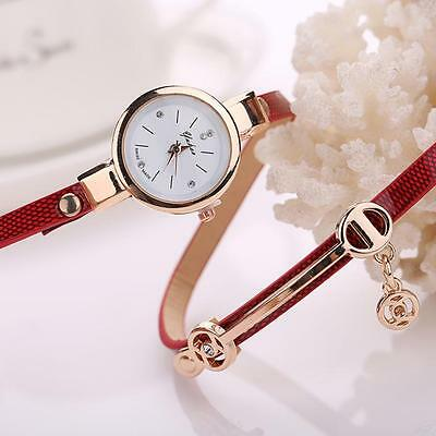 Fashion Womens Ladies Watch Stainless Steel Leather Bracelet Wrist Watches 11