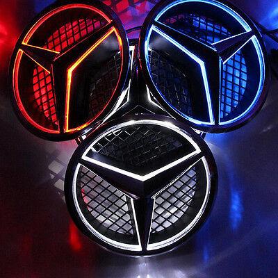 Illuminé LED lumière Emblème Logo Grille LED Badge Avant pour Mercedes Benz NEUF 11
