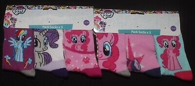 6 x Pairs of Girl's Character Socks  U.K. Shoe Sizes 6 - 2.5 (Roughly 1-8 Yrs) 10