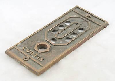 Curtis Cast Bronze Elevator Plate